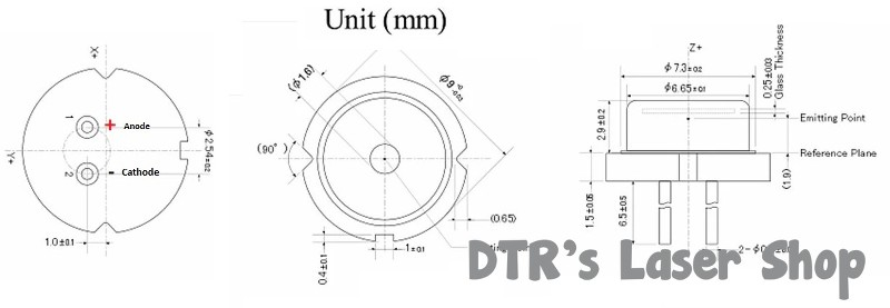 7W+ 450nm NUBM44-81/NUBM47-A1 Laser Diode - DTR's Laser Shop